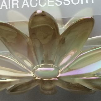 Acrylic hair clamp opalescent pearl