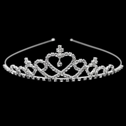 Diamante Heart Tiara